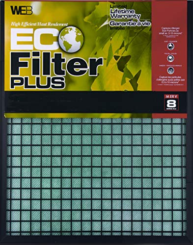 (WEB Eco FilterPlus 16x25x1 Air and Furnace Filter)