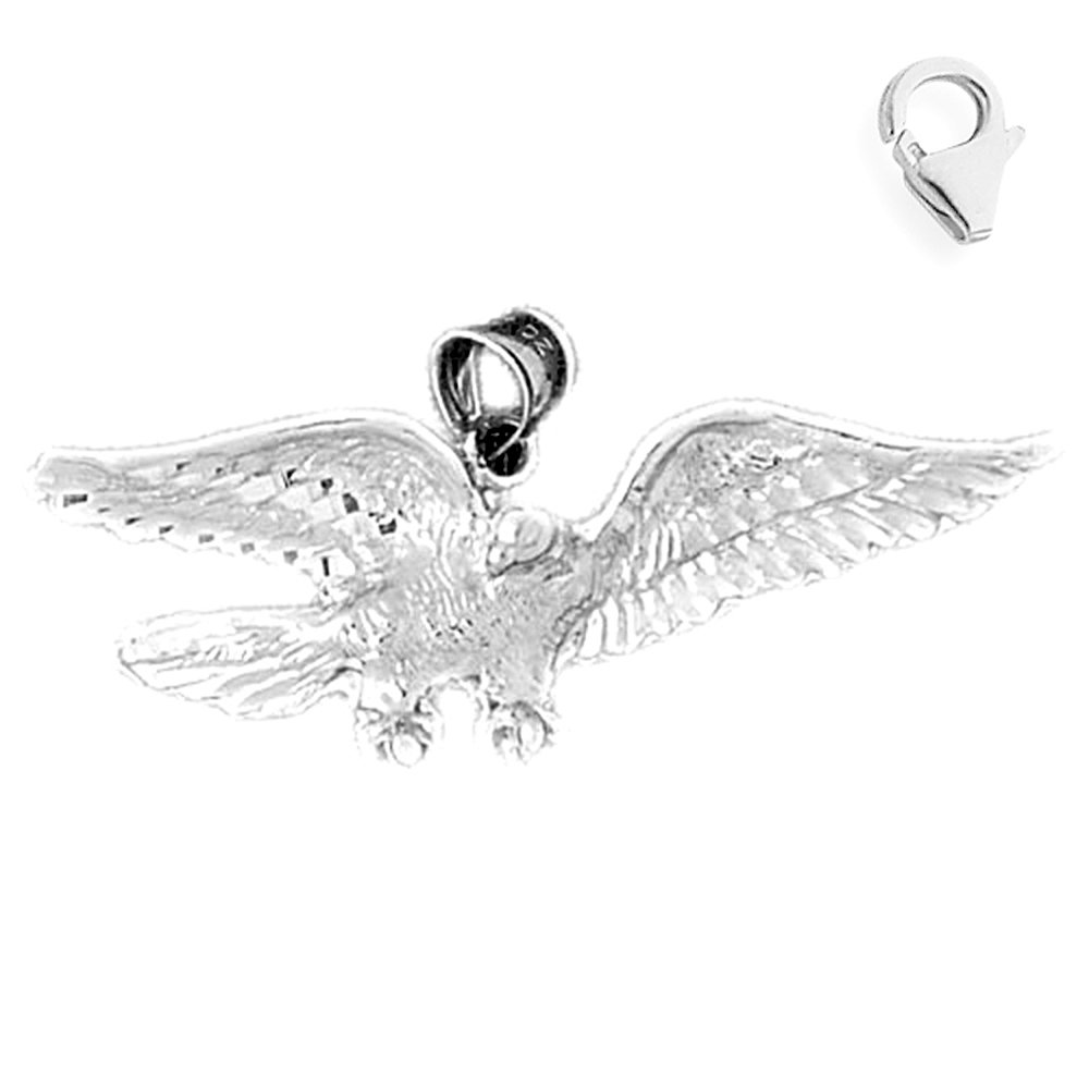 JewelsObsession Sterling Silver 21mm Eagle Charm w//Lobster Clasp