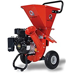 "GreatCircleUSA 7HP Heavy Duty 212cc Gas Powered 3:1 Multi-Function Pro Wood Chipper Shredder, 3"" max Wood Diameter Capacity, 3 Years Warranty, CARB Certified, Ship to California (Improved Packaging)"
