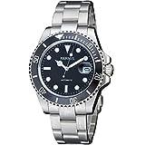 40mm Mens Mechanical Automatic Ceramic Bezel Sapphire Glass Black Dial Wristwatch