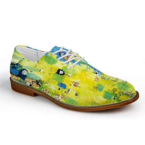 Klemmer Idé Pledd Mens Fashion Oxford Kjole Sko Graffiti 6