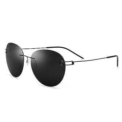 Retro Gafas de sol polarizadas de la personalidad de la forma redonda de los hombres gafas