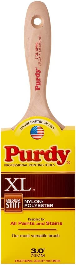Purdy 144380330 XL Series Sprig Flat Trim Paint Brush