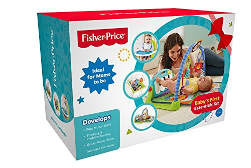 Fisher-Price 4in1 Baby's First Essentials Kit with Kick N Play Gym, Booster Seat, Bouncer and...