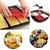 4-Cavity Mini Waffles Cake Chocolate Pan Silicone DIY Tray Mold Mould