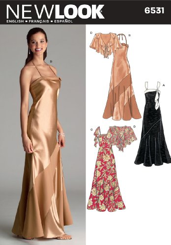 New Look Sewing Pattern 6531 Misses Special Occasion Dresses, Size A (6-8-10-12-14-16) (Patterns For Sewing Dress Prom)