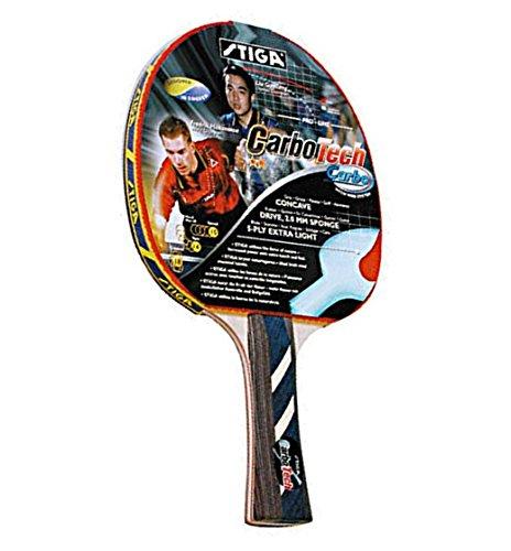 Stiga 2 Star Carbo Tech Table Tennis Bat by Stiga