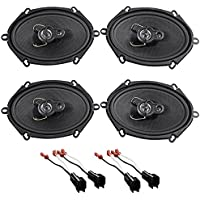 05-07 Ford F-250/350/450/550 SOUNDSTREAM 5x7 Front+Rear Speaker Replacement Kit