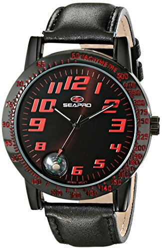 Seapro Men's SP5114 Raceway Analog Display Quartz Black Watch