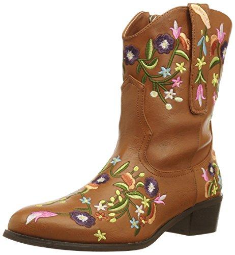 2 Lèvres Aussi Womens Trop Kicker Western Boot Bronzage