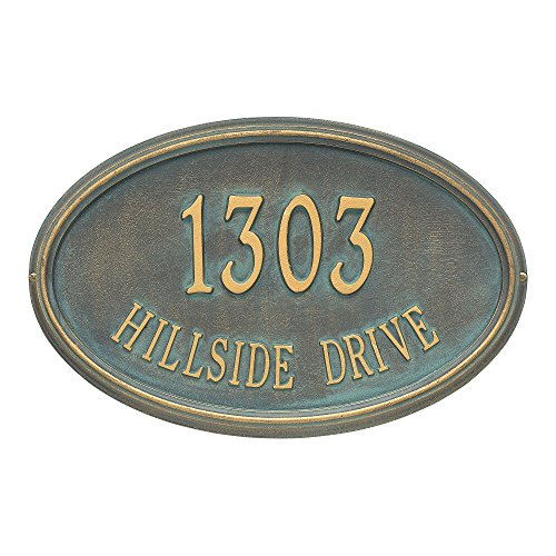 - Customized Concord OVAL Estate Wall Address Plaque 21