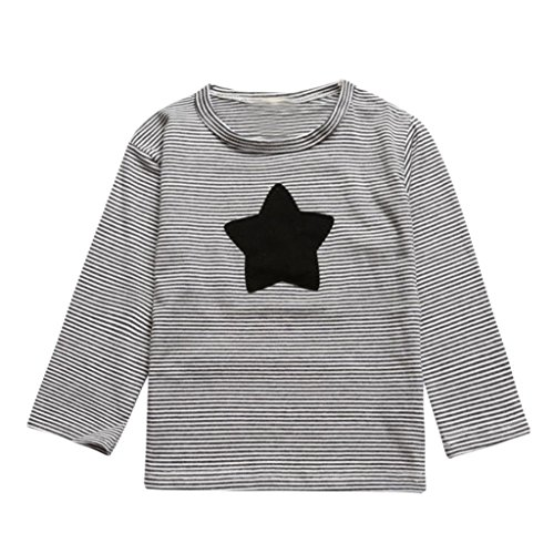 Kids Tops,Baby Toddler Boys Girls Autumn Winter Star Print Stripe Long Sleeve T Shirt Sweatshirt Clothes 3-7T (4-5 Years Old, ()