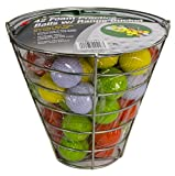 Jef World of Golf Foam Practice Balls (42 Multi-Colored Balls)