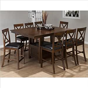 Jofran 9 piece counter height dining set in for 9 piece dining room set counter height