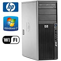 HP Z400 Workstation - Xeon W3550 3.06GHz Quad Core, 8GB DDR3, New 1TB Hard Drive, Windows 7 Professional 64-Bit, Dual Video Out (DMS-59 to 2x VGA) (Prepared by ReCircuit)