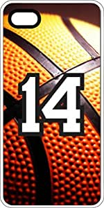 Basketball Sports Fan Player Number 13 White Rubber Decorative iPhone 5c Case