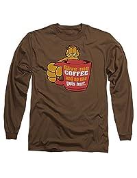Garfield Give Me Coffee Mens Long Sleeve Shirt