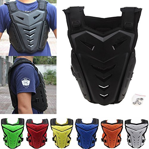 Possbay Chest Back Vest Armor Protector for Motocross Riding Skating Skiing - Roost Profile Youth Deflector