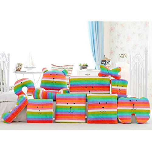Vercart Soft Rainbow Comfortable Support Pillow Cushion For Neck Waist Feet Multicolor 9 Set