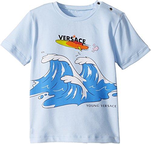 eebb6095eb5c Versace Kids Baby Boy s Short Sleeve Wave Graphic T-Shirt (Infant Toddler)