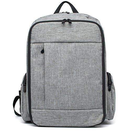 yooabc pañal Mochila bebé para cambio de pañales bolsa de gran capacidad multifuncional bolsas de viaje con aislamiento bolsillos azul azul gris