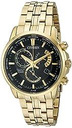 Citizen Eco-Drive Men's 'Perpetual Calendar' Quartz Stainless Steel Casual Watch, Color: Gold-Toned (Model: BL8142-50E)