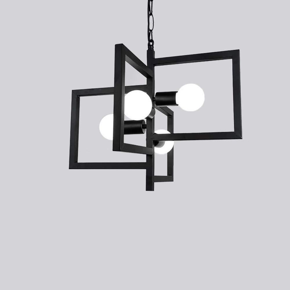 工業用ミニペンダント照明 家の照明家の装飾の簡単な産業レストランの金属の正方形の管の吊り下げ式ライト (色 : AC 220V, サイズ : 暖かい白) B07PRSN6SJ AC 110V 冷たい白 冷たい白|AC 110V