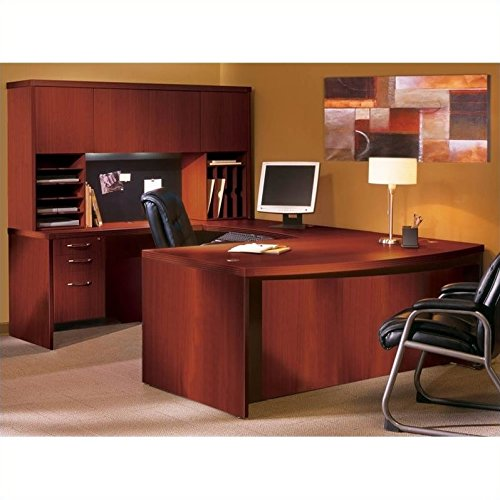Mayline Aberdeen Horizontal Paper Management Organizer in Cherry
