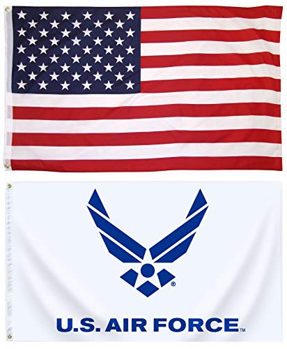 Mission Flags 3x5 ft. US American and Air Force Polyester Fl