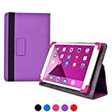 Acer Iconia Tab 8 A1-840 FHD / 8 W (W1-810) case, COOPER INFINITE ELITE Protective Rugged Shockproof Carrying Universal Portfolio Case Cover Folio Holder with Built-in Stand (Purple)