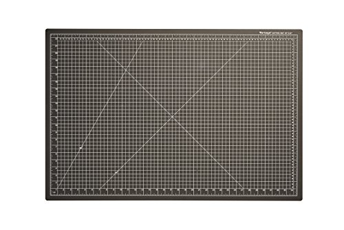 Dahle Vantage 10673 Self-Healing Cutting Mat, 24''x36'', 1/2'' Grid, 5 Layers for Max Healing, Perfect for Cropping, Sewing, & Crafts, Black by Dahle