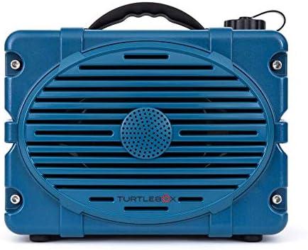 Turtlebox: Loud! Out of doors Rugged Bluetooth Speaker ~ As much as 50+ Hour Cost   IP67 Waterproof & Dustproof. Performs as much as 120db. (Laguna Madre Blue)