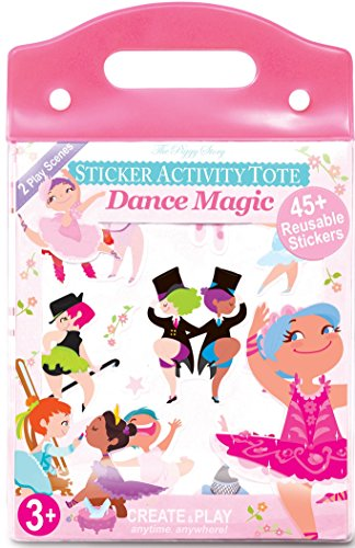 Sticker Activity Tote (The Piggy Story 'Dance Magic' Reusable Cling Sticker Activity Tote for Portable Play)