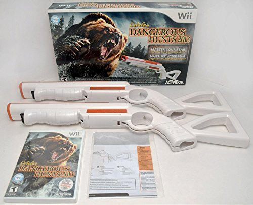 Wii/Wii-U Cabela's DANGEROUS HUNTS 2013 Game Set Top Shot bear 2-GUN Bundle