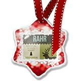 Christmas Ornament National US Forest Rahr Memorial School Forest, red - Neonblond