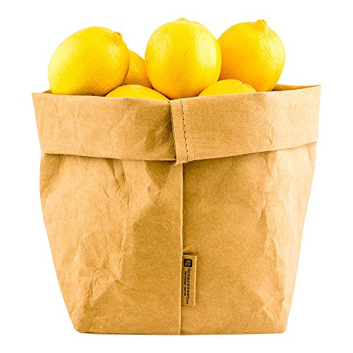 (Kraft Washable Paper Bags, Reusable Paper Bag, Durable, Long Lasting - Kraft - 6.3 x 9.8 Inches - Duralux - 1ct Box - Restaurantware)