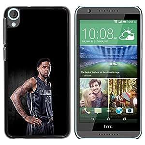 Miami 40 Baloncesto - Metal de aluminio y de plástico duro Caja del teléfono - Negro - HTC Desire 820