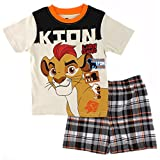 The Lion Guard Toddler Boys 2 piece Tee Shorts Set (3T, Taupe Kion)