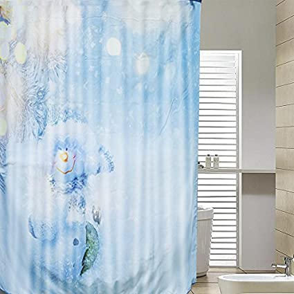 New Christmas Bathroom Shower Curtain Xmas Snowman Santa Waterproof 180x180cm UK B Amazoncouk Kitchen Home