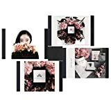 LEGGYHORSE Photo Frame Designs Decorative Puzzle Collage Picture Frame Sets for Wall Desktop Decor for Home Office (Picture Frames 5x7, Black, Suction Cube Set, Set of 4)