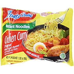 Indomie Mi Goreng Halal Instant Soup Noodles, Chicken Curry,2.82 oz