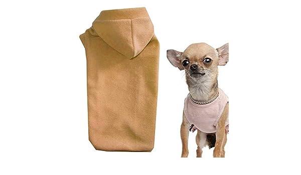 Talla XXS Forro Polar Beige Perros Chaqueta Ropa para Perros Perros Sudadera: Amazon.es: Productos para mascotas