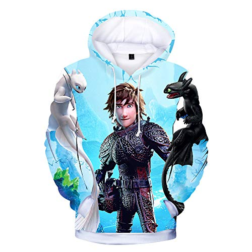 How to Train Your Dragon Pullover Exquisite Boys Children's Wear Pullover Sweatshirt Long Sleeve Jumper Casual Long Tops Boys (Color : A01, Size : 100) ()