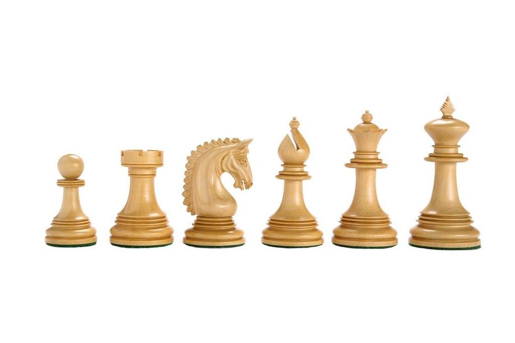 海外並行輸入正規品 Chessbazaar The California Chrome Staunton King Staunton Series in Chess Set in Ebony/ Box wood - 4.1