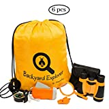Outdoor Kids Explorer Kit for Adventure | Kid Binoculars, Backpack, Magnifying Glass, Whistle, Flashlight | Nature Exploration Educational Science Toy, Gift for Boys Girls, Camping Gear, Hiking