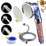 #1: Luxsego Ionic Pure Filter Shower Head [IFS-001] with a Shower Hose, High Pressure & Water Saving Showerhead for Best Shower Experience, Anion Energy Ball Handheld Shower for Dry Hair & Skin SPA