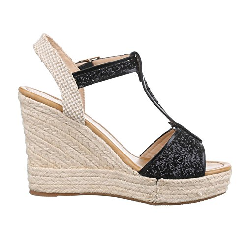 compensées Noir femme chaussures Ital Design Ewn4qHICz
