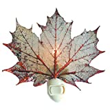 Real Leaf Sugar Maple Night Light, Copper Iridescent