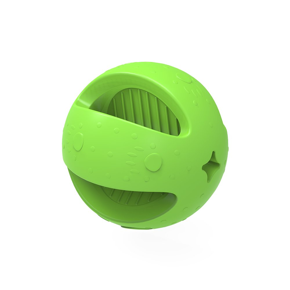 Indestructible Dog Ball Rubber Bouncy Balls for Dogs Easy Grip Small Dog Balls for Puppies 2.4 inch - Colors Vary