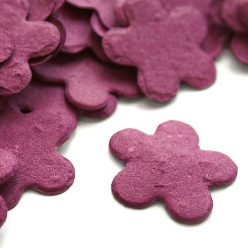 Berry Purple 5-Petal Plantable Seed Confetti (two 350 piece bags = 700 pieces)